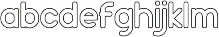 Holy Outline ttf (400) Font LOWERCASE