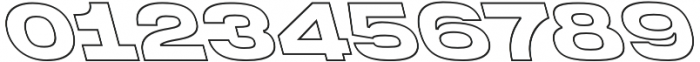 Homage Ultra Outline Backslant otf (900) Font OTHER CHARS