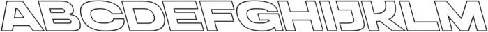 Homage Ultra Outline Backslant otf (900) Font UPPERCASE