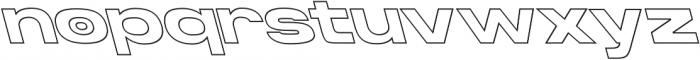Homage Ultra Outline Backslant otf (900) Font LOWERCASE