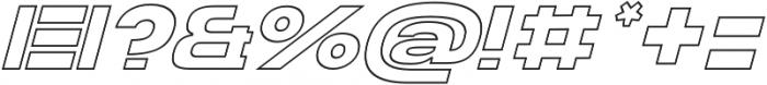 Homage Ultra Outline Slant otf (900) Font OTHER CHARS