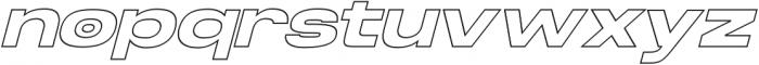 Homage Ultra Outline Slant otf (900) Font LOWERCASE