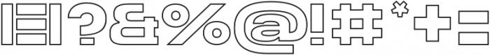 Homage Ultra Outline otf (900) Font OTHER CHARS