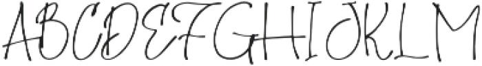 Homage otf (400) Font UPPERCASE