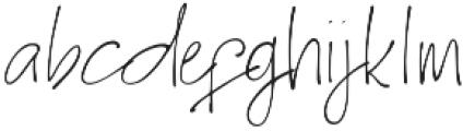 Homage otf (400) Font LOWERCASE