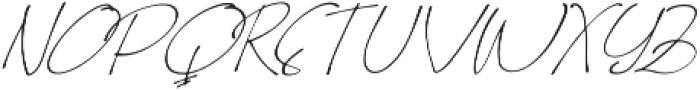 Homage slant otf (400) Font UPPERCASE