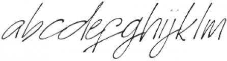 Homage slant otf (400) Font LOWERCASE