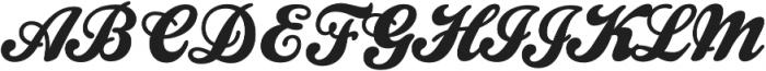 Homelass Script otf (400) Font UPPERCASE