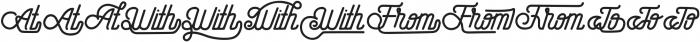 Hometown Catchword otf (400) Font UPPERCASE