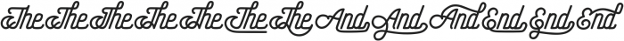 Hometown Catchword otf (400) Font LOWERCASE