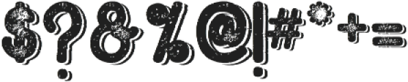 Hometown Rough Bold Shadow otf (700) Font OTHER CHARS