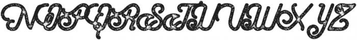 Hometown Script Bold Rough otf (700) Font UPPERCASE
