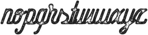 Hometown Script Bold Rough otf (700) Font LOWERCASE
