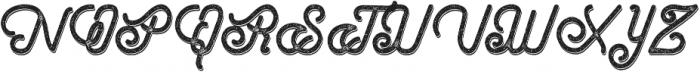 Hometown Script Rough Shadow otf (400) Font UPPERCASE