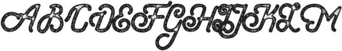 Hometown Script Rough otf (400) Font UPPERCASE