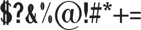 Hommer otf (700) Font OTHER CHARS