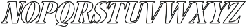 Hondurhas Expanded otf (400) Font LOWERCASE