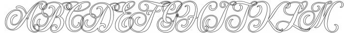 Hondurhas Line Shadow otf (400) Font UPPERCASE