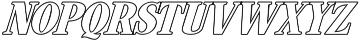 Hondurhas Line Shadow otf (400) Font LOWERCASE