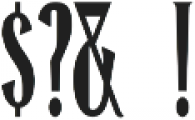 Honest Merchant ttf (400) Font OTHER CHARS