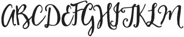 HoneyCream otf (400) Font UPPERCASE