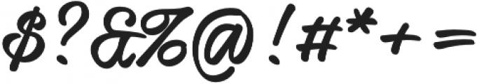Honeymoon Upright Bold otf (700) Font OTHER CHARS