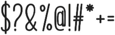 Honilad Sans II Regular otf (400) Font OTHER CHARS