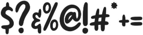 Honnestly otf (400) Font OTHER CHARS