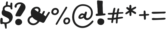 Honolulu Filled Jumpy otf (400) Font OTHER CHARS