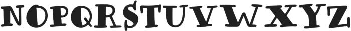 Honolulu Filled Jumpy otf (400) Font LOWERCASE