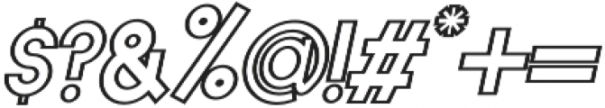 Horacio Outline Italic otf (400) Font OTHER CHARS