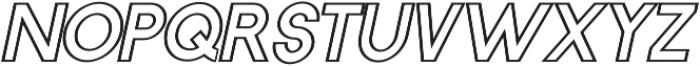 Horacio Outline Italic otf (400) Font LOWERCASE