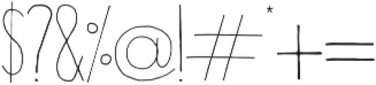 Horizon Light otf (300) Font OTHER CHARS