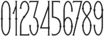 Horror Narrow otf (400) Font OTHER CHARS