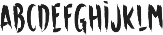 Horror otf (400) Font LOWERCASE