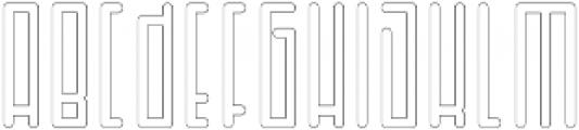 Horus Basic Outline otf (400) Font UPPERCASE
