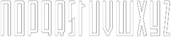 Horus Basic Outline otf (400) Font LOWERCASE