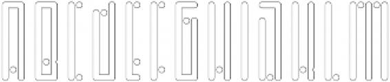 Horus Dot Outline otf (400) Font UPPERCASE
