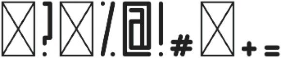 Horus Dot Regular otf (400) Font OTHER CHARS
