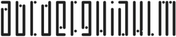 Horus Dot Regular otf (400) Font LOWERCASE