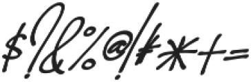 Hoslant otf (400) Font OTHER CHARS