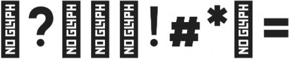 Hossa Heavy otf (800) Font OTHER CHARS