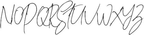 Hostens signature Regular otf (400) Font UPPERCASE