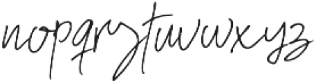 Hostens signature Regular otf (400) Font LOWERCASE