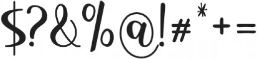HostyKlotzy-Regular otf (400) Font OTHER CHARS