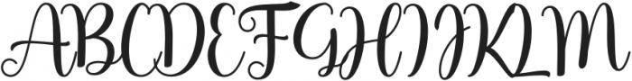HostyKlotzy-Regular otf (400) Font UPPERCASE