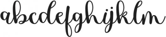 HostyKlotzy-Regular otf (400) Font LOWERCASE