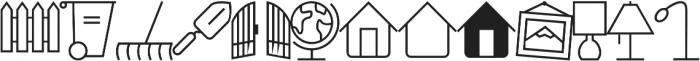 Household Icons IDT otf (400) Font UPPERCASE