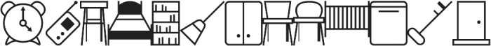 Household Icons IDT otf (400) Font LOWERCASE