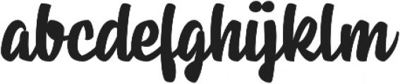 Housemate Regular otf (400) Font LOWERCASE